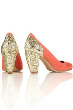 Jazzhands glitter peep toe shoes, Topshop. Good height - I could actually walk in these.