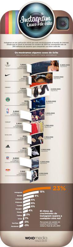 Instagram: casos de éxito #infografia #infographic #socialmedia