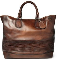 Gucci Woven Leather Holdall
