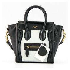 Celine Luggage Tote Bags Black and White [Celine Luggage tote bag] :... via Polyvore