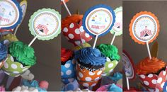 Carnvial Cupcake Toppers Circus Cupcake by JRCreativeDesigns, $8.99