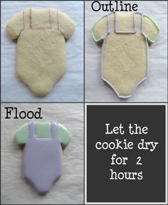 Baby Cookie Ideas | BABY COOKIES WITH FONDANT ROSES