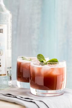 Watermelon Rum Punch by Jelly Toast #summer #watermelon #cocktail