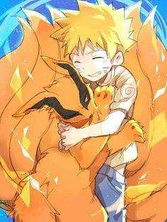 Naruto and Kurama (9 tail fox)