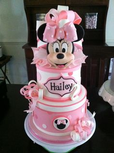 Cute Minnie Birthday Cake