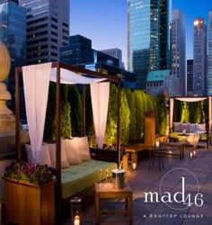 romantic dinners, luxury life, outdoor bars, rooftop patio, hotel, new york city, place, loung, rooftops