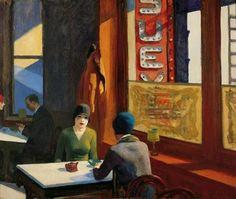"""Edward Hopper - """"Chop Suey,"""" 1929"""