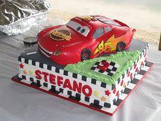 Lightning McQueen Cake --  For N's 4th Birthday?