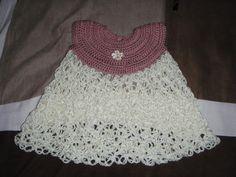 Love knot crochet baby dress