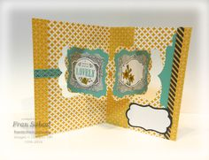 Fran Sabad using the double high technique with the Katie Label Pivot Card Pop it Ups die by Karen Burniston for Elizabeth Craft Designs. Also uses the Deco Labels Framelits to cut out the You're Lovely stamps. - stampersblog: Double High Lovely