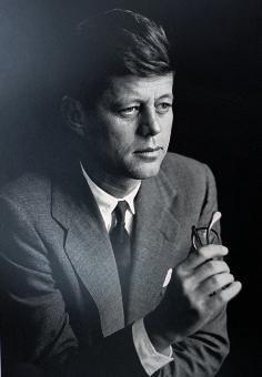 AP A 1957 Time magazine portrait of John F. Kennedy