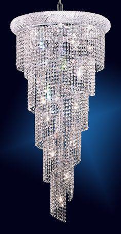 18-Light spiral crystal chandelier