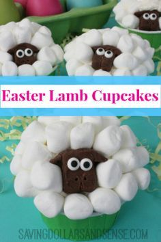 These Easter Lamb Cupcakes are so adorable, fun and easy to make!!