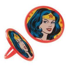 party favors, wonder woman party, birthday, wonder women, superhero parti, parties, napkin ring, woman parti, wonderwoman