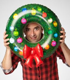 It's an inflatable Christmas wreath...no words