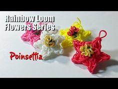Rainbow Loom Flowers Series: POINSETTIA (The Christmas Flower) PG's Loomacy. You Tube