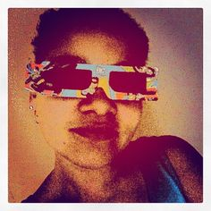 Sportin' the 3D DC glasses from my daughters taco bell kids meal. POW!  - @foxymama923- #webstagram