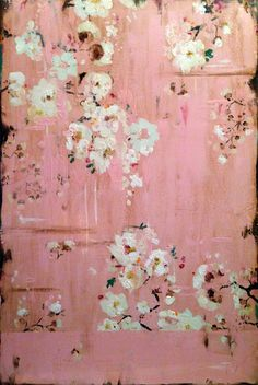 Kathe Fraga Memories of Home, )  French Wallpaper Series evoke the hand-painted, timeworn walls of a grand old Parisian mansion.