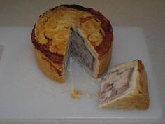 Traditional Pork Pie. Inspired by our trip back to England (June 2012). Delicious!!!