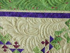 beautiful feather quilting