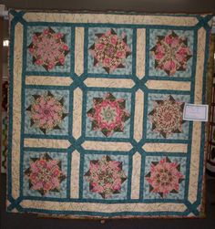 This is a great looking quilt using a variation of the stack and whack quilt pattern.
