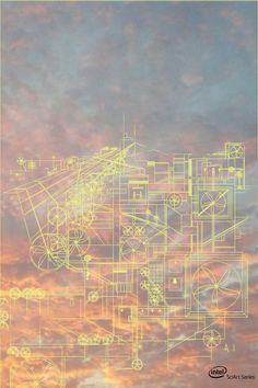 """""""Cloud City"""" in the #Intel #SciArt Series depicts how wind turbines could power our world."""