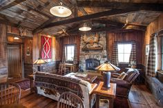 Ranch at Rock Creek - rustic - Living Room - Other Metro - Superior Hardwoods of Montana