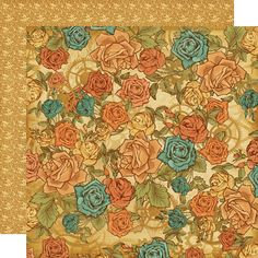 Graphic 45 - Steampunk Debutante Collection - 12 x 12 Double Sided Paper - Fantasy Floral at Scrapbook.com $0.99