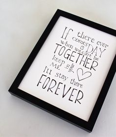 Together Forever Winnie the Pooh Quote Disney by SimpleSerene, $12.00
