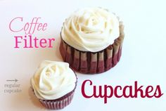 Coffee Filter Cupcakes @createdbydiane - use coffee filters to make giant cupcakes!
