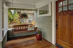 the doors, porch swings, window, dream hous, front doors, craftsman porch, craftsman style, front entry, front porches