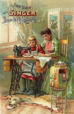 Diferentes imprimibles de máquinas de coser