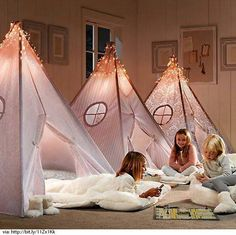 Cute slumber party tents!