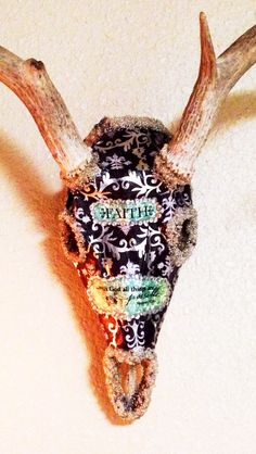 Deer Skull Decorated