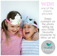 Meika's Little Treasures: WIN a fabric crown for your little princess