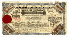 Jewish Colonial Trust's establishment was suggested at the First Zionist Congress. It was to serve as a financial institution which would hold funds for the needs of the Zionist movement.