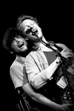Winston Marshall and Ted Dwane of Mumford & Sons.