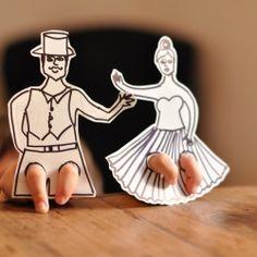finger flamenco dancers