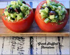 Greek Stuffed Tomato - YoursAndMineAreOurs.com