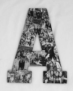 Custom  Photo Collage letter  - Girlfriend gift - College dorm room decor
