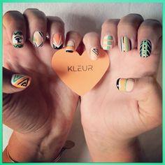 kleur nail art #1