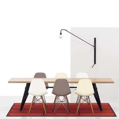 Eames plastic chair dsw från vitra