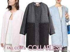 Fall Coats: Collarless