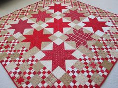 Awesome star quilt-of course it is red