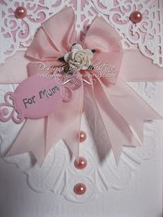 Flowers, Ribbons and Pearls: 3-D Folder ...