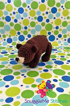 """Winston the Bear - - Free Amigurumi Pattern - PDF File - Click """"download"""" or """"free Ravelry download"""" here: http://www.ravelry.com/patterns/library/winston-the-bear"""