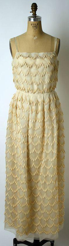 Dress, Evening  Mainbocher (American, 1890–1976)  Date: 1960s Culture: American Medium: silk