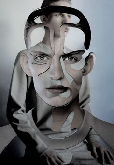 "pradaphne:    Christian Ochsenfahrt in ""Cut & Paste"", photographed by Damien Blottiere for Dazed & Confused December 2010."