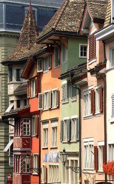 Augustinergasse in Zürich's old town, Switzerland