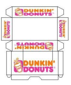 Dunkin Donuts Box Template Mini printout dunkin' donuts